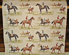 Horse racing fabric race jockey documentary print from Brick House Fabric: Novelty Fabric