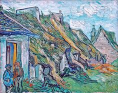 Old Cottages, Chaponval - Vincent van Gogh, 1890