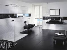 Chic et indémodable, le noir et blanc trouve facilement sa place dans la salle de bains. Qu'il...