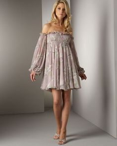"""RUCHED EMPIRE DRESS-Minus the """"sleeves"""" and add a simple strap--Voila! a nighty for the hot months!!"""