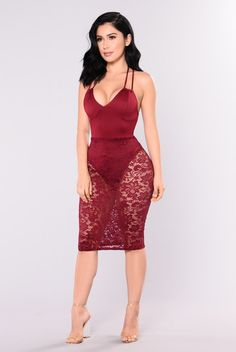 More Lace Please Dress - Wine