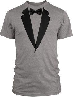 Big Texas Realistic Tuxedo (Black) Vintage Tri-Blend T-Shirt Camisas  Personalizadas 9de679f730618