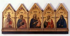 Giotto  Badia Polyptych  1301-1302  Galleria degli Uffizi  Florence, Italy