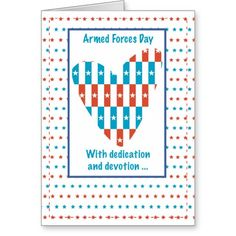 Armed Forces Day Patriotic Place In Heart Thank Yo Greeting Card