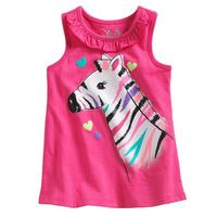 2016 Summer Baby Girls Clothes Sleeveless Girls T shirt Zebra Print Kids Tops & Tees Cotton Children Vest Baby Outfits, Toddler Outfits, Kids Outfits, Baby Girl Fashion, Kids Fashion, Short Niña, Kids Tops, T Shirt Vest, Dresses Kids Girl