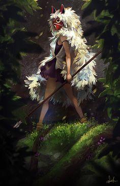 Princess mononoke, Artist einiv. http://einiv.deviantart.com/art/Princess-Mononoke-517242974
