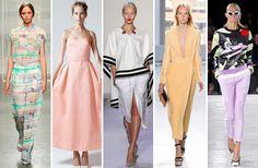 Spring feeling! L-R: Tess Giberson, Rosie Assoulin, Altuzarra, Proenza Schouler, Prabal Gurung