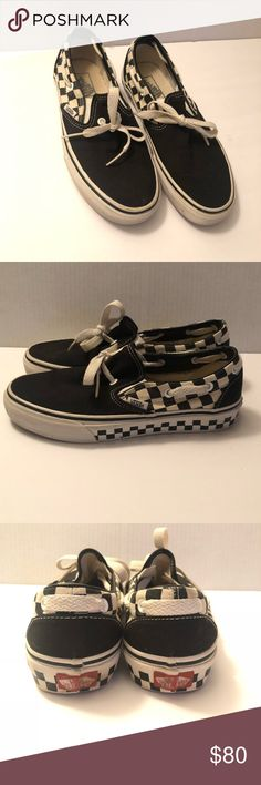 3ed6b0ae667e Rare Vans Lacey slip on with checkerboard sole Rare Vans Lacey with  checkerboard sole Classic slip