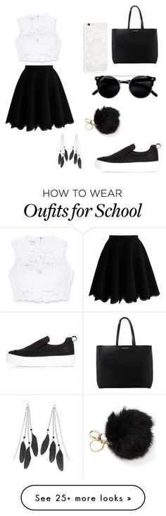 Schools/Students by katrislitvinenko on Polyvore featuring Bebe, Chicwish, MANGO, River Island and Charlotte Russe