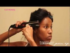 ▶ How To  Prepare Natural Hair For Silky Straight Flat Ironing Results + Relaxer Method - YouTube