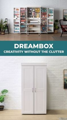 Like a warm bath on a brisk day, the DreamBox is an in-home getaway. Surround yourself with things you love, in an organized and inspiring fashion. Everything consolidated and within reach. - DreamBox: Creativity Without the Clutter Space Saving Furniture, Diy Furniture, Furniture Design, Craft Storage Furniture, Folding Furniture, Furniture Purchase, Office Furniture, Home Crafts, Diy Home Decor