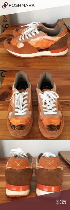 Inkkas Jogger Shoes Patagonia Desert Stylish orange joggers SOLD OUT on Inkkas website. Slightly worn but in great condition minus a scuff on the outside of the rubber heel. Please see picture. Could fit a 6.5 or 7. Inkkas Shoes Athletic Shoes