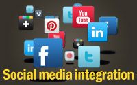 social media integration to any website