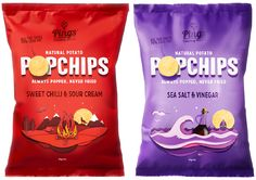 """New Packaging for Popchips by Marx - BP&O - Popchips – Branding and packaging created by Marx Design """" Popchips – Branding and packaging - Chip Packaging, Clever Packaging, Fruit Packaging, Food Packaging Design, Coffee Packaging, Packaging Design Inspiration, Brand Packaging, Product Packaging, Branding Ideas"""