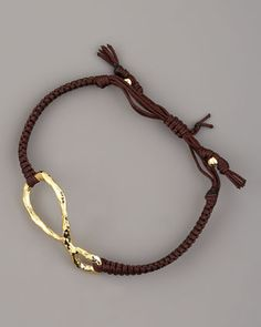Hammered Gold Infinity Bracelet by Tai at Bergdorf Goodman.