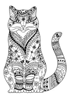 Cat coloring page                                                       …                                                                                                                                                                                 Más