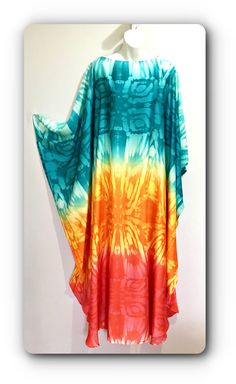 "Hand made , one of a kind "" Hippie Chic"" Satin Kaftan dress by AlexandriaHall01 on Etsy"
