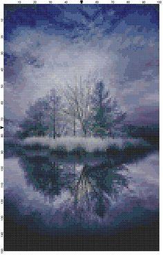 Cross Stitch Pattern Lake Alice Reflection by theelegantstitchery, $10.00