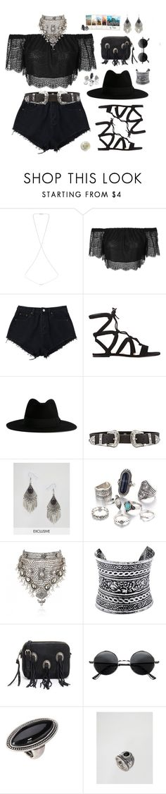 """""""music festivals all summer"""" by taniabiebz ❤ liked on Polyvore featuring Miss Selfridge, Topshop, Gianvito Rossi, Yves Saint Laurent, B-Low the Belt, Reclaimed Vintage, Samantha Wills, LULUS, Rebecca Minkoff and Retrò"""