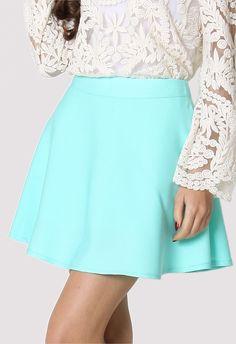 #chicwish Mint Skater Skirt