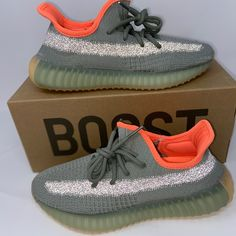 Adidas Yeezy 350 Desert Sage Authentic US Mens Size 10 Yeezy Sneakers, Yeezy Shoes, Me Too Shoes, Men's Shoes, Shoes Sneakers, Adidas Shoes, Adidas Men, Adidas Yeezy 350 V2, Sage 100