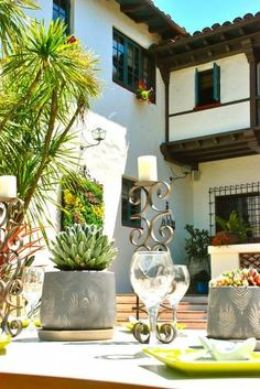 This American Home: Designer Style: 10 Lessons From a Showcase House Spanish Colonial Homes, Spanish Style Homes, Spanish Revival, Spanish House, Mediterranean Architecture, Spanish Architecture, Residential Architecture, Spanish Courtyard, Spanish Garden