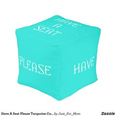 Shop Have A Seat Please Teal Cube Pouf by Janz created by Just_For_Mom.