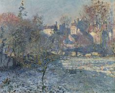 Claude Monet (1840-1926). Le Givre, 1875, oil on canvas, 19 5/8 x 24 in. (50 x 61 cm.)