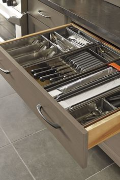 Our Flatware and Utensil Organizer Kits ensure every inch of the drawer is put to use.