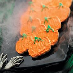Pumpkin-Shaped Rollout Cookies Recipe from Taste of Home