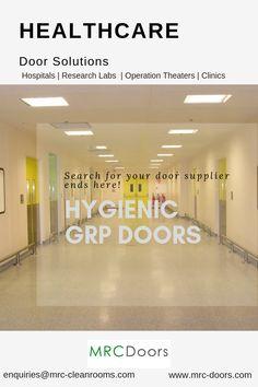 MRC Doors range of hygienic doors for hospital and healthcare industries