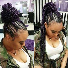 Dope braids via @braids_by_twosisters - Black Hair Information Community