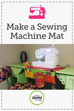 Keep all your sewing tools close by with this handy sewing machine mat. You can customize the pocket sizes to fit you scissors, snips, rulers, and whatever else you need to keep close by your machine. Keep the mess at a minimum too with an easy to detach and empty scrap catcher.