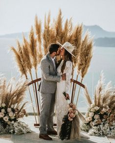 Pampas grass wedding ceremony arch wedding backdrop 20 Boho Wedding Arches, Altars And Backdrops Before Wedding, Wedding Tips, Elopement Wedding, Diy Wedding, Boho Wedding Dress, Wedding Bouquets, Wedding Ceremony Arch, Wedding Arches, Wedding Backdrops