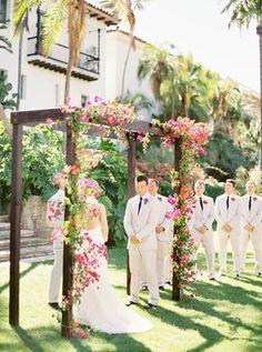 love the bouganvilla Yard Wedding, Wedding Places, Wedding Bells, Wedding House, Wedding List, August Wedding, Wedding 2015, Wedding Ceremony Arch, Wedding Arches