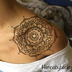 Shoulder henna mandala design