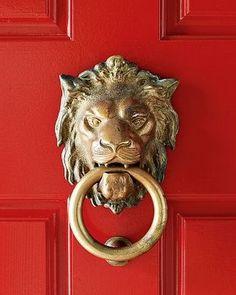 Cottage Charm ~ Red, Gold ~ Door Knocker