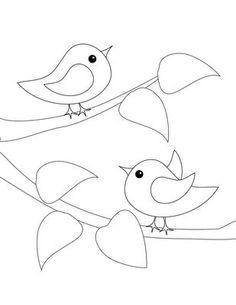 Los pájaros en la rama... Aplicación patchwork.: