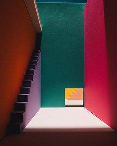 Paper Art by Raya Sader Bujana for DOIY — Designcollector Colour Architecture, Architecture Details, Interior Architecture, Stairs To Heaven, Memphis, Scenery Pictures, Cool Wallpapers For Phones, Color Studies, Color Inspiration