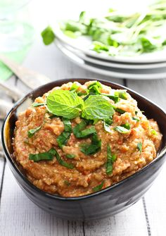 This healthy and easy to make Roasted Eggplant and Feta Dip is great as an appetizer served with some healthy crackers or veggies. You can also use it in wraps or with roasted chicken.
