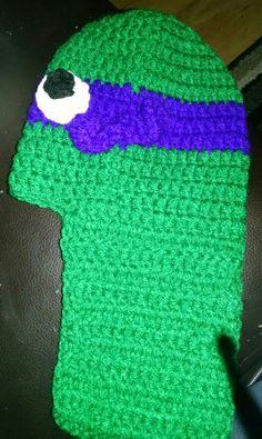 Purple Ninja Turtle Slipper - side view