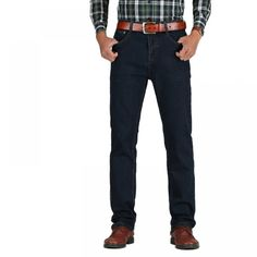 39b8bd97c9fc9 Men s High Waist Thick Classic Stretch Cotton Jeans Price  53.99  amp  FREE  Shipping