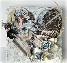 "Miranda Edney's Gallery: ""Heart"" Mixed Media Canvas Layout"