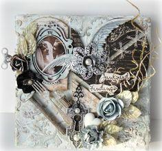 """Miranda Edney's Gallery: """"Heart"""" Mixed Media Canvas Layout"""