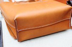 Bolso de hombro de cuero marrón cosida a por ArtemisLeatherware