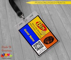 Dart Tag Nerf Wars Inspired Party Name ID Tags by LindaKCreations
