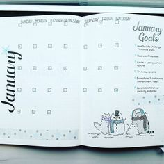 "Polubienia: 974, komentarze: 24 – A Hayden (@craftyenginerd) na Instagramie: ""January is here! What goals do you have to start the new year?  #bujocommunity #bulletjournaljunkie…"""