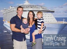 Family Cruising Boarding Tips #allureoftheseas Family Cruises Cruise Tips from THe Household Hero