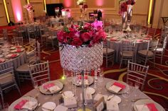 M&M Special Events Centerpieces at JW Marriott Chicago Wedding Event Lighting, Chicago Wedding, Wedding Centerpieces, Wedding Events, Special Events, Table Settings, Marriage, Entertaining, Table Decorations