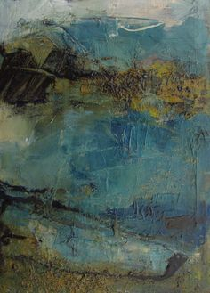 """ORIGINAL Big Sur California  ABSTRACT PAINTING Art by colettedavis, $40.00  Only 5 x 7"""" amazing!"""
